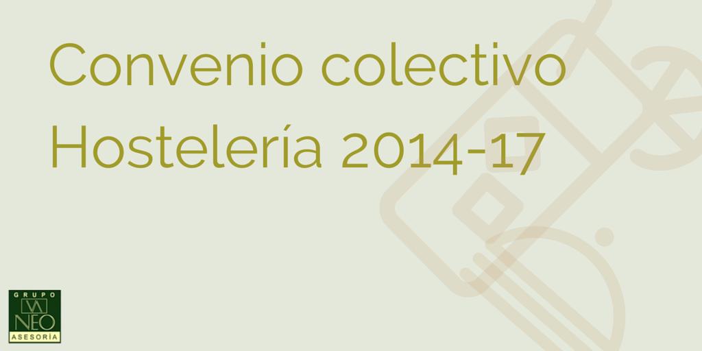 Publicado el convenio colectivo hostelería Málaga 2014-2017