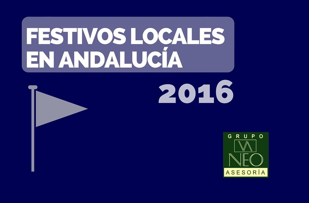 Festivos Locales Andalucía 2016