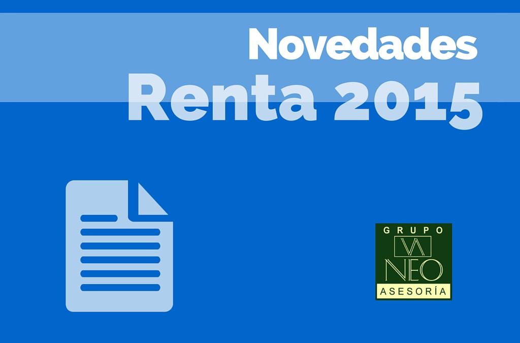 Novedades Declaración de la Renta 2015