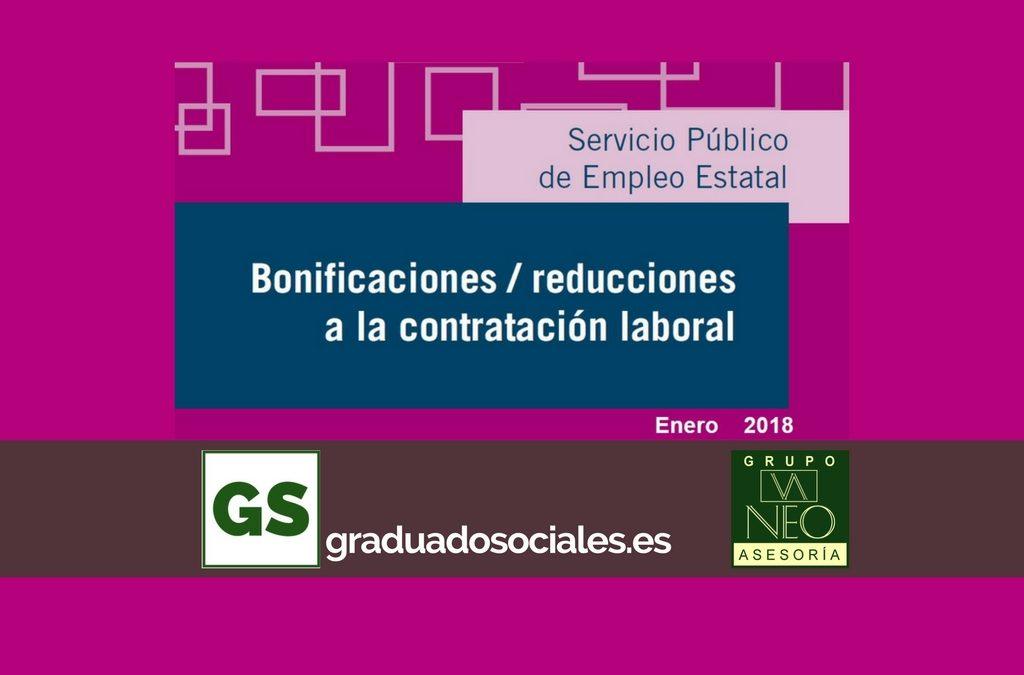 Bonificaciones contratación laboral: ENERO 2018