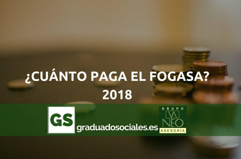 ¿Cuánto paga el FOGASA como máximo en 2018?
