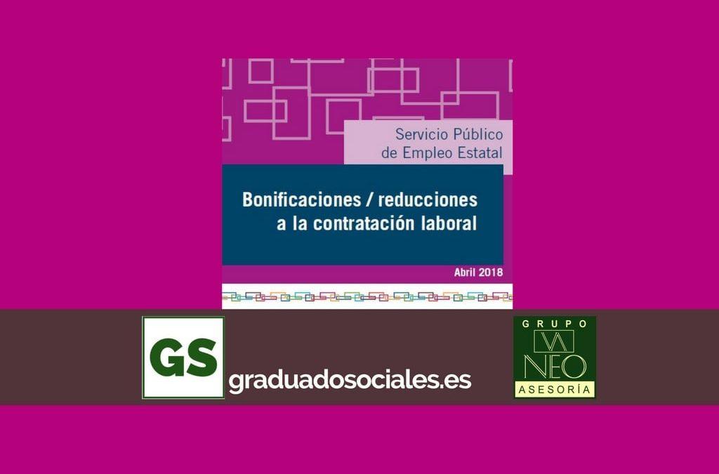 Bonificaciones contratación laboral: ABRIL 2018