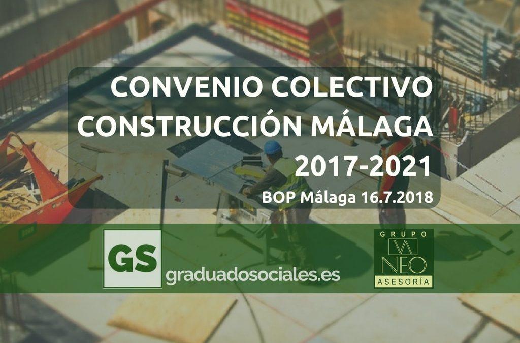 Convenio Construcción Málaga 2017-2021