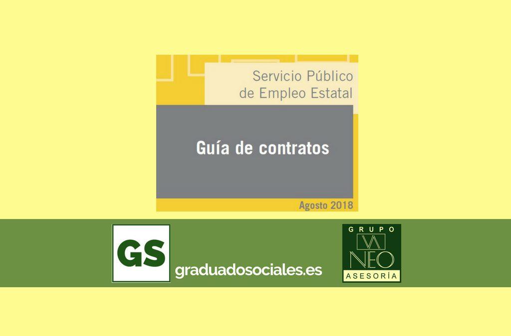 Guía de contratos de trabajo: AGOSTO 2018