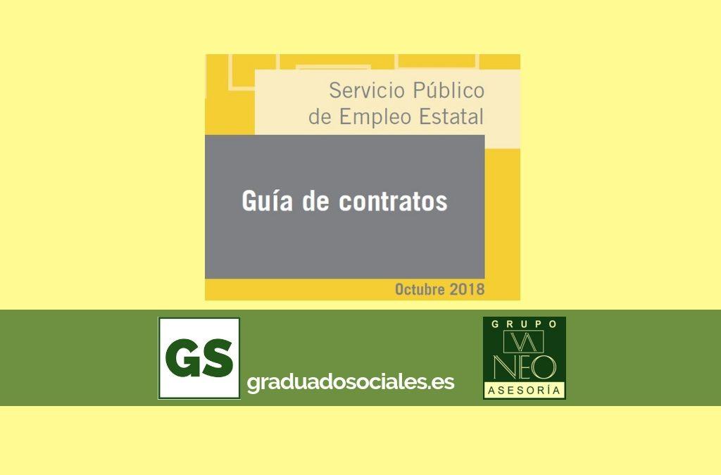 Guía de contratos de trabajo: OCTUBRE 2018