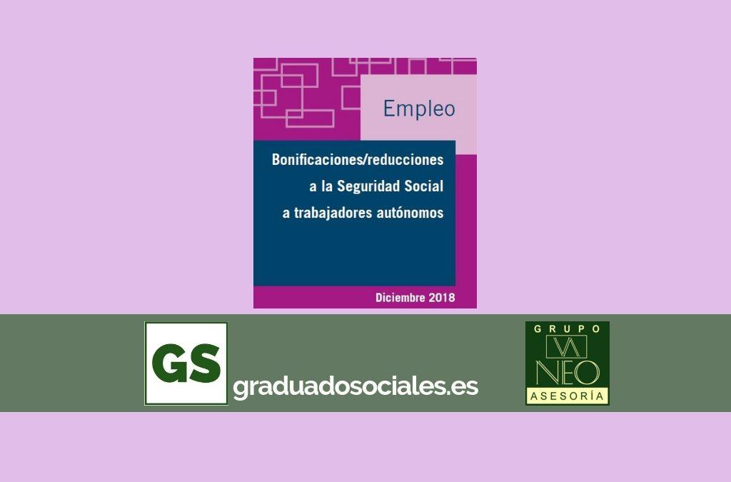 Bonificaciones Seguridad Social autónomos | DICIEMBRE 2018