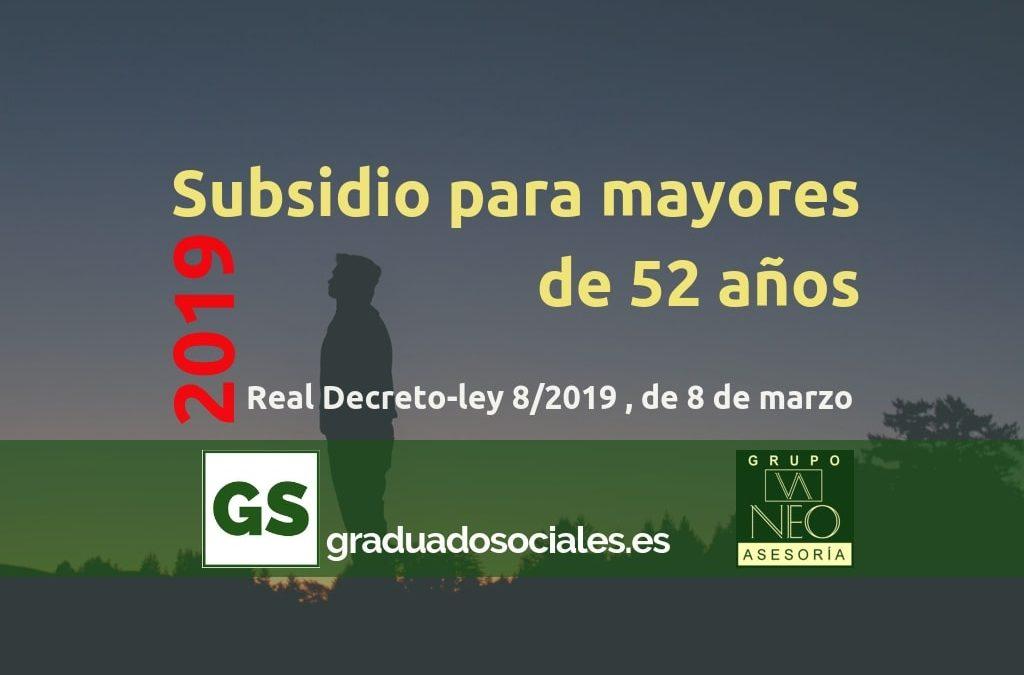 Subsidio para mayores de 52 años (2019)