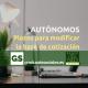 Autónomos: Plazos para modificar la base de cotización