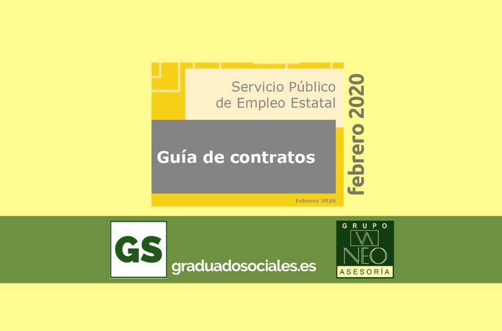 Guía de contratos de trabajo: FEBRERO 2020