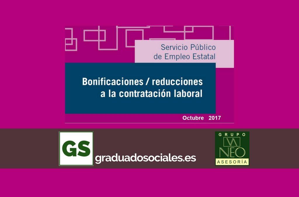 Bonificaciones para la contratación laboral: OCTUBRE 2017