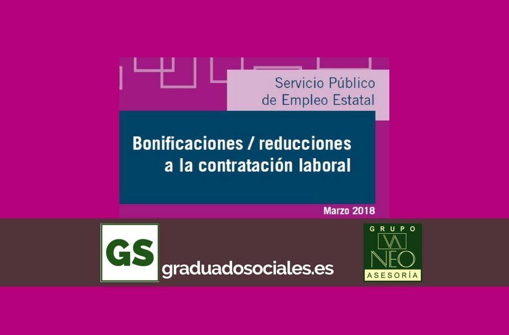 Bonificaciones contratación laboral: MARZO 2018