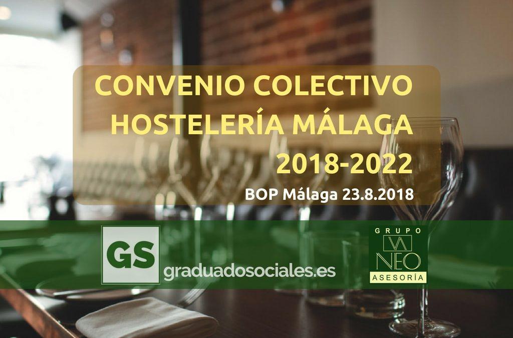 Convenio colectivo hostelería Málaga 2018-2022