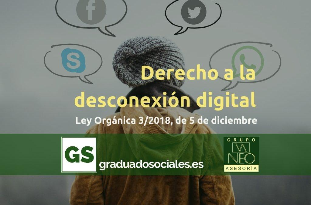 Derecho a la desconexión digital en el ámbito laboral