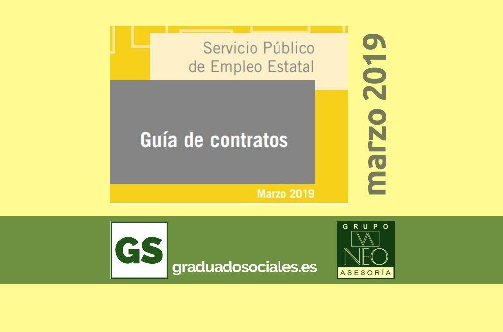 Guía de contratos de trabajo: MARZO 2019