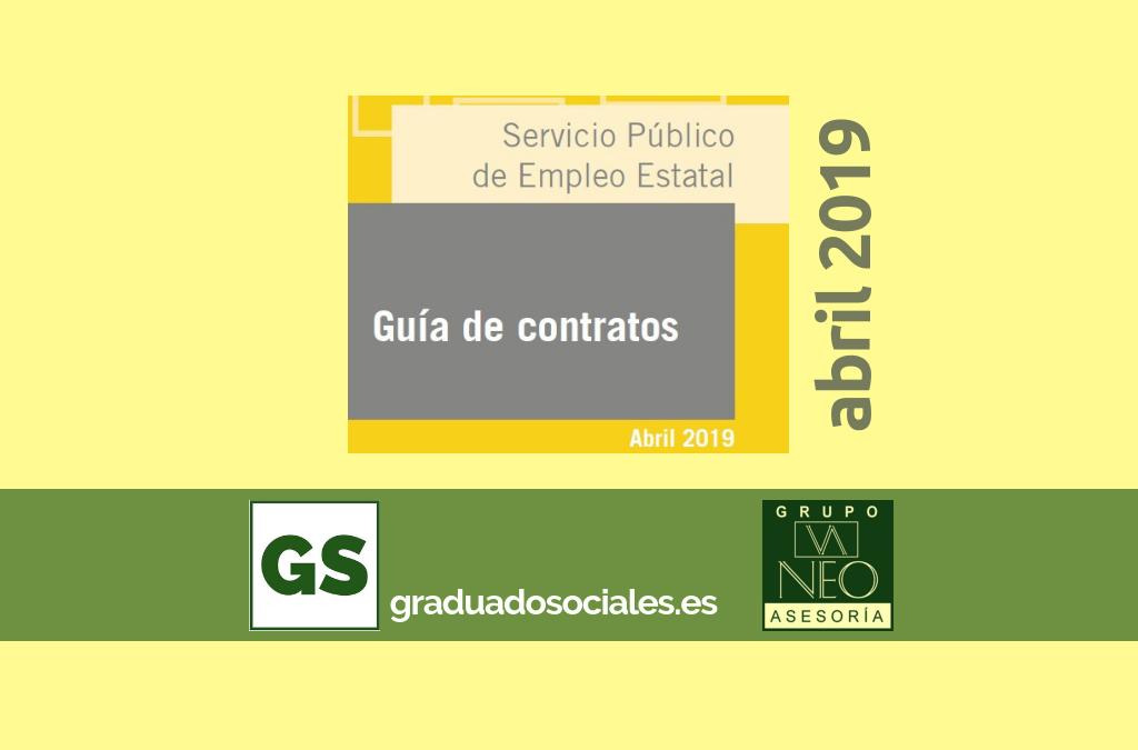 Guía de contratos de trabajo: ABRIL 2019