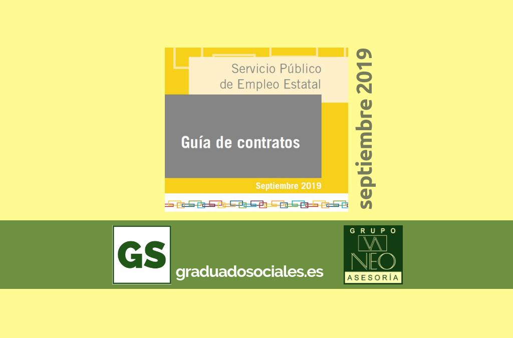 Guía de contratos de trabajo: SEPTIEMBRE 2019