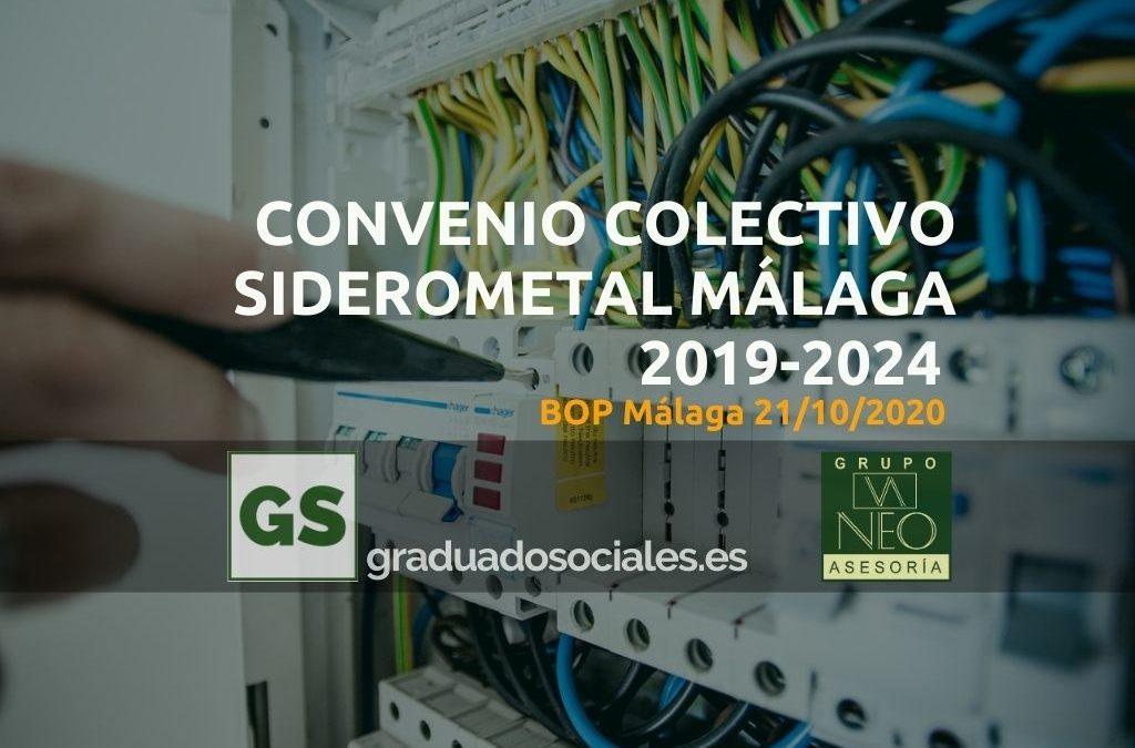 Convenio Colectivo Siderometal Málaga 2019-2024